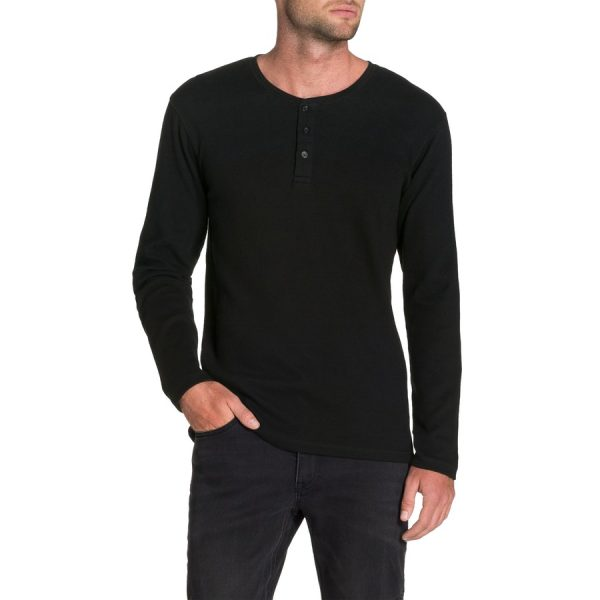 Fashion 4 Men - Tarocash Walker Henley Tee Black M