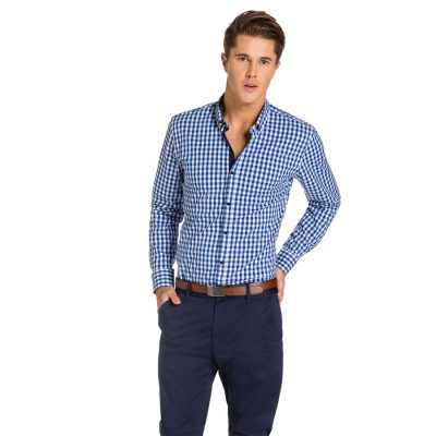 Fashion 4 Men - yd. Beren Slim Fit Shirt Blue/ White Xs