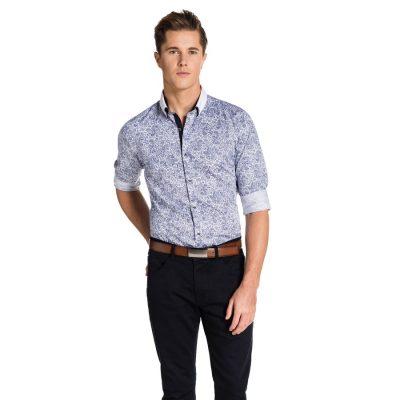 Fashion 4 Men - yd. Brady Shirt Blue/ White S