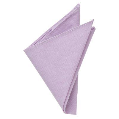 Fashion 4 Men - yd. Chambray Pocket Square Lilac One