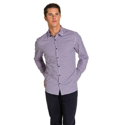 Fashion 4 Men - yd. Condore Slim Fit Shirt Pink/ Blue M
