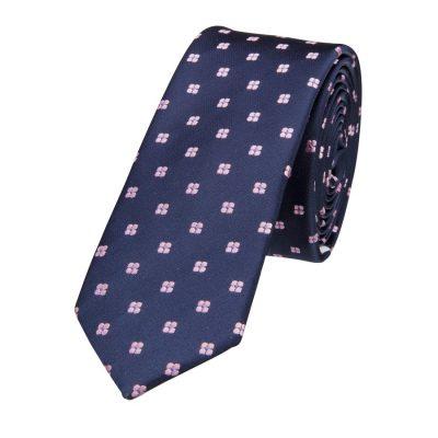 Fashion 4 Men - yd. Duanos 5 Cm Tie Navy/Pink One