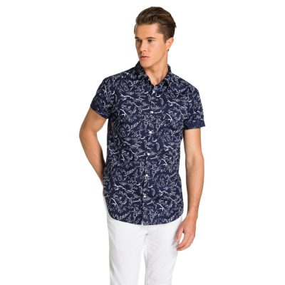 Fashion 4 Men - yd. Hamish S/S Shirt Navy 2 Xs