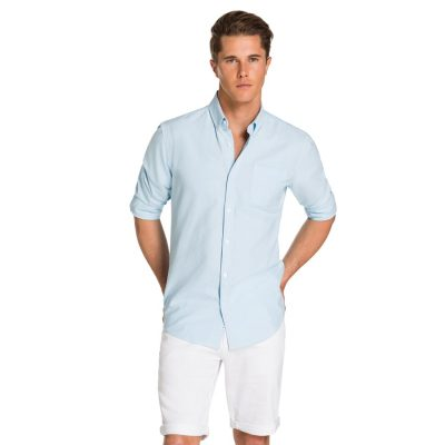 Fashion 4 Men - yd. Hamptons Shirt Aqua Xs