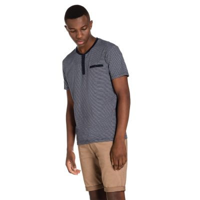 Fashion 4 Men - yd. Harry Henley Tee Navy 2 Xl