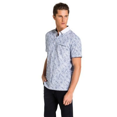 Fashion 4 Men - yd. Killian Polo Paisley Blue Xs