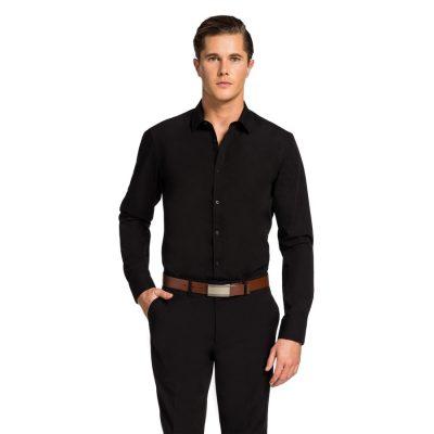 Fashion 4 Men - yd. Largo Slim Fit Dress Shirt Black Xxxl