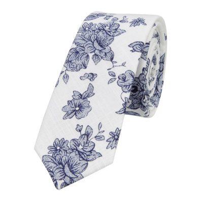 Fashion 4 Men - yd. Marley 5 Cm Tie White/Navy One