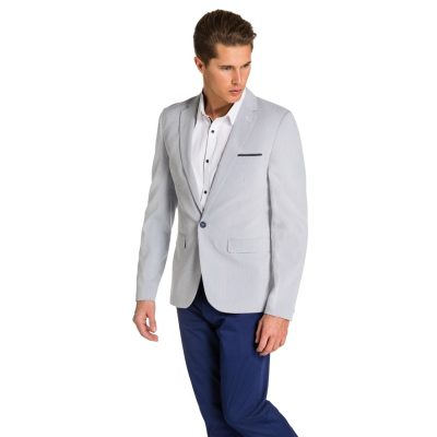 Fashion 4 Men - yd. Miami Blazer Light Blue S