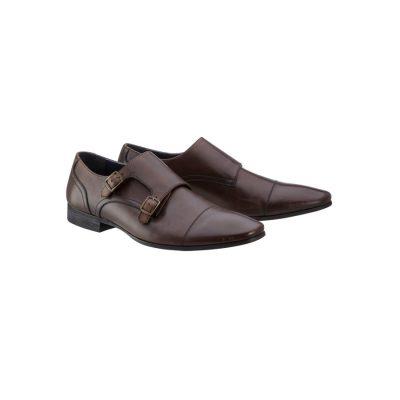 Fashion 4 Men - yd. Monk Strap Shoe Chocolate 9
