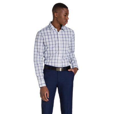 Fashion 4 Men - yd. Patterson Dress Shirt Blue L