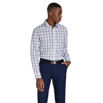 Fashion 4 Men - yd. Patterson Dress Shirt Blue Xxxl