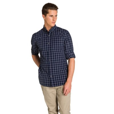 Fashion 4 Men - yd. Springs Shirt Navy Check M