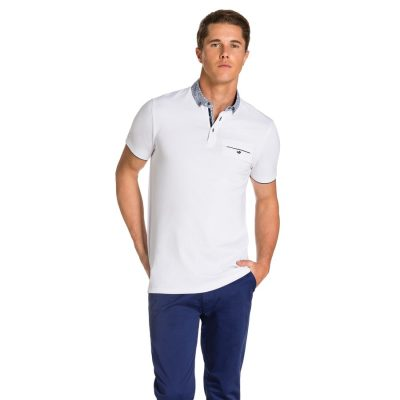 Fashion 4 Men - yd. Stanton Polo White M