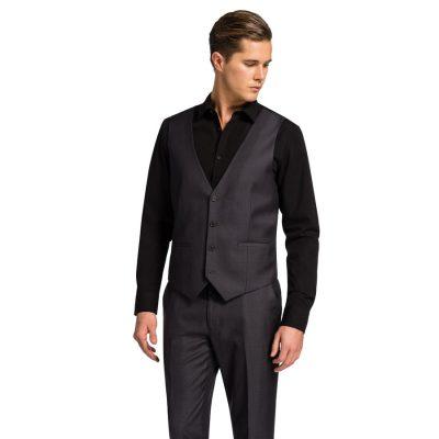 Fashion 4 Men - yd. Vermont Waistcoat Charcoal Xxxl