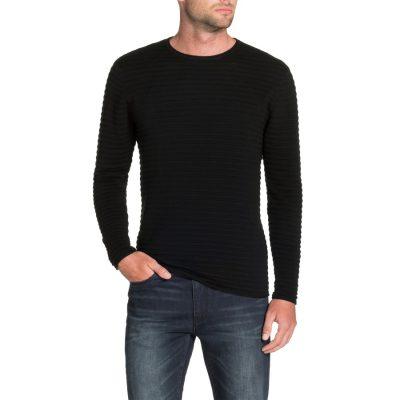 Fashion 4 Men - Tarocash Amsterdam Rib Knit Black L