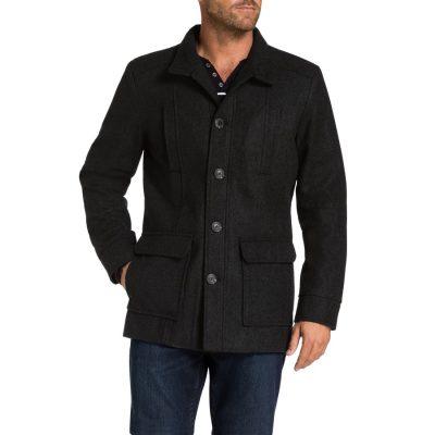 Fashion 4 Men - Tarocash Arden Wool Blend Coat Charcoal L