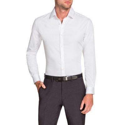 Fashion 4 Men - Tarocash Bahamas Slim Stretch Shirt White Xl