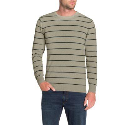 Fashion 4 Men - Tarocash Bentley Stripe Knit Mocha Xxl