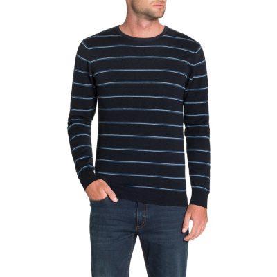 Fashion 4 Men - Tarocash Bentley Stripe Knit Navy S
