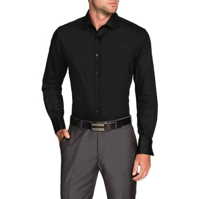 Fashion 4 Men - Tarocash Bond French Cuff Shirt Black Xxl