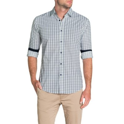 Fashion 4 Men - Tarocash Controller Check Print Shirt Navy Xxxl