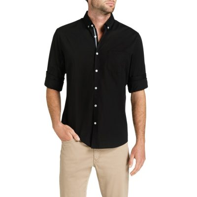 Fashion 4 Men - Tarocash Cool Cotton Shirt Black M