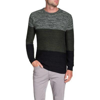 Fashion 4 Men - Tarocash Dave Space Dye Knit Khaki Xxxl
