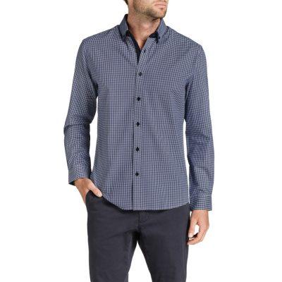 Fashion 4 Men - Tarocash Donovan Check Shirt Navy L
