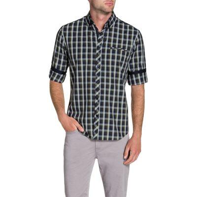 Fashion 4 Men - Tarocash Haldon Check Shirt Khaki 5 Xl