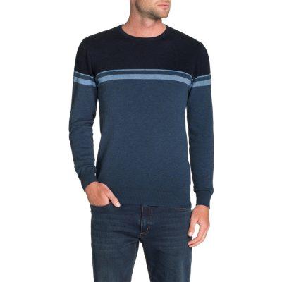 Fashion 4 Men - Tarocash Jacob Stripe Knit Blue M