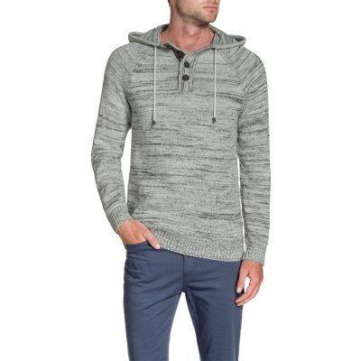 Fashion 4 Men - Tarocash Jamie Hooded Knit Ice Xxxl