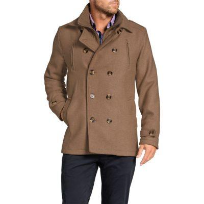 Fashion 4 Men - Tarocash Jez Db Melton Coat Camel M