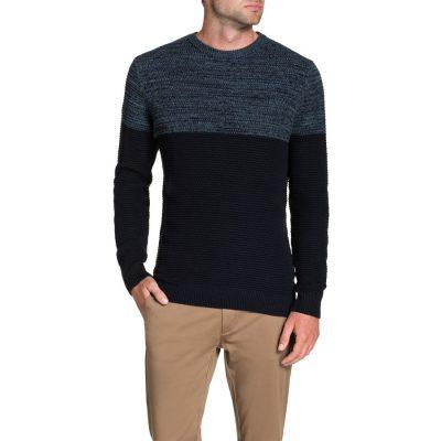 Fashion 4 Men - Tarocash Kirk 2 Tone Knit Navy M