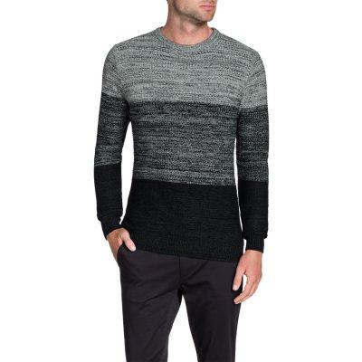Fashion 4 Men - Tarocash Kurt Space Dye Knit Black Xl