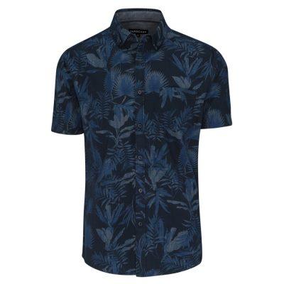 Fashion 4 Men - Tarocash Lebron Print Shirt Indigo L