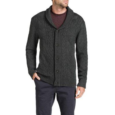 Fashion 4 Men - Tarocash Shawl Neck Knit Jacket Charcoal M