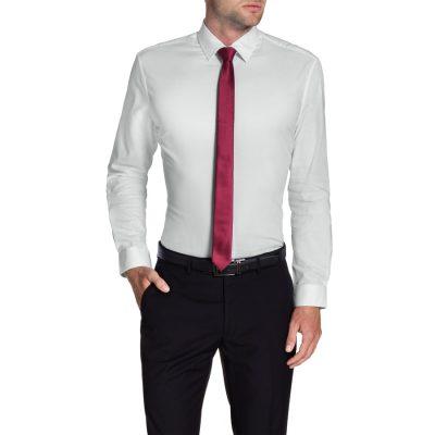 Fashion 4 Men - Tarocash Skyfall Slim Textured Shirt White 5 Xl