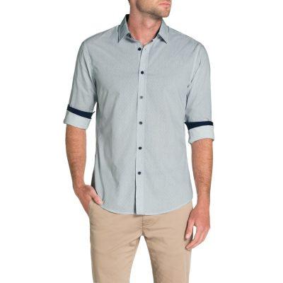Fashion 4 Men - Tarocash Toby Print Shirt Navy M