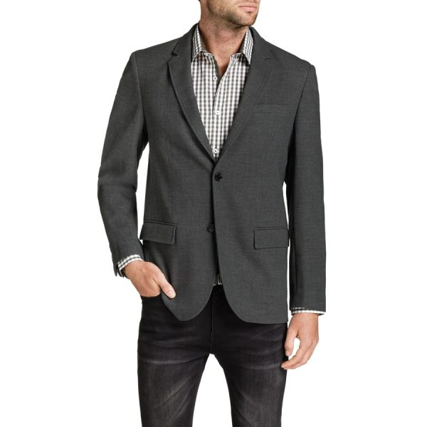 Fashion 4 Men - Tarocash Westbury Textured Jacket Charcoal M