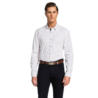 Fashion 4 Men - yd. Acton Slim Fit Shirt White M