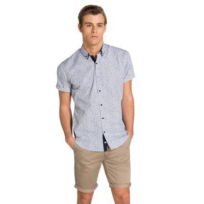 Fashion 4 Men - yd. Alistar Ss Shirt Navy Floral Xs