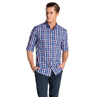 Fashion 4 Men - yd. Belvedere Shirt Blue/Pink Xxxl