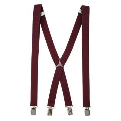 Fashion 4 Men - yd. Braces Burgundy One