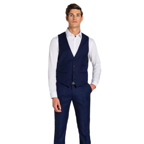 Fashion 4 Men - yd. Cahn Blue Waistcoat Blue S