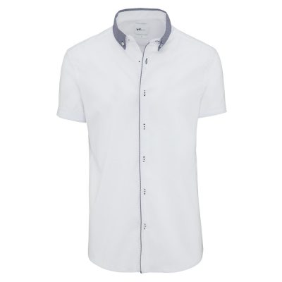 Fashion 4 Men - yd. Fintan Slim Fit S/S Shirt White L