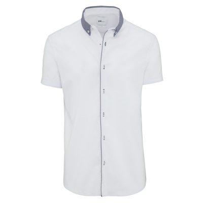 Fashion 4 Men - yd. Fintan Slim Fit S/S Shirt White Xxl