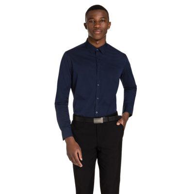 Fashion 4 Men - yd. Hentley Slim Fit Dress Shirt Navy Xl