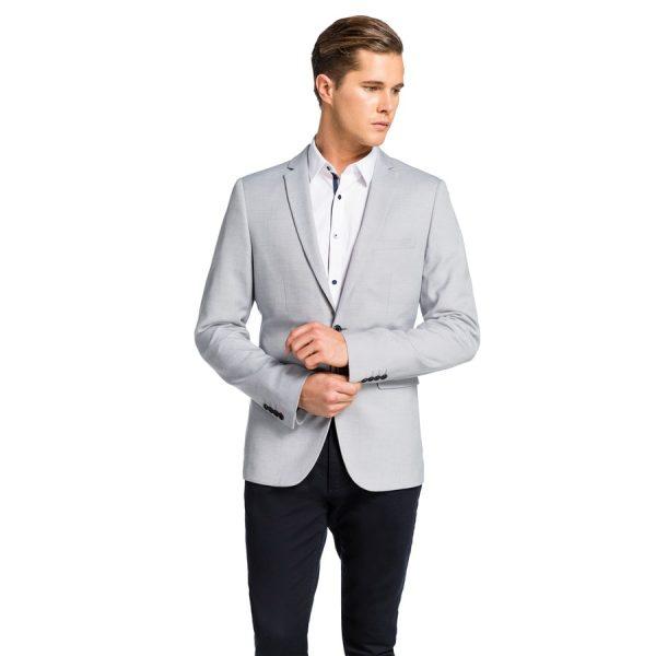 Fashion 4 Men - yd. Hoxton Blazer Light Grey Xxxl