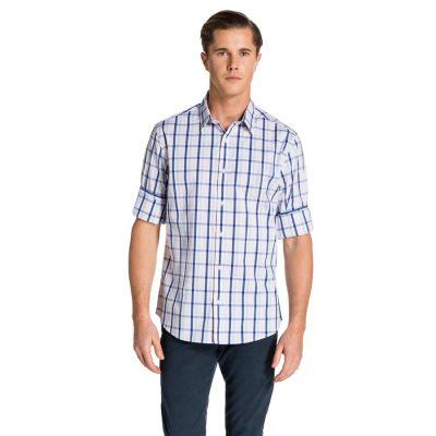 Fashion 4 Men - yd. Jamison Shirt Wht/Blu L